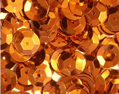 5mm Cup Sequins ~ Orange Metallic ~ Loose Paillettes Made in USA