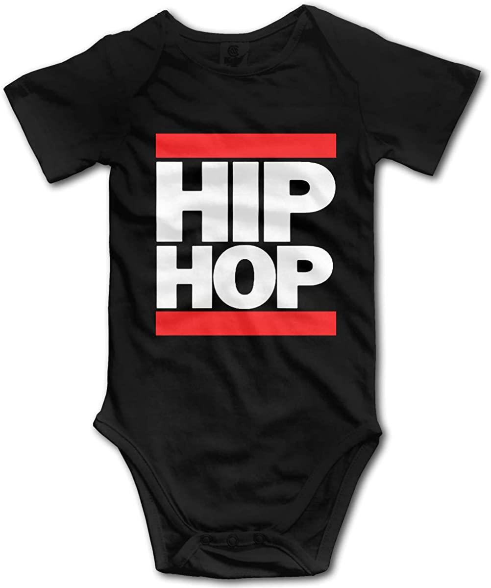 ElinaDesdemona Hip Hop Newborn Infant Baby Clothes T-Shirt Playsuit Union Suit Baby Short-Sleeve Bodysuit
