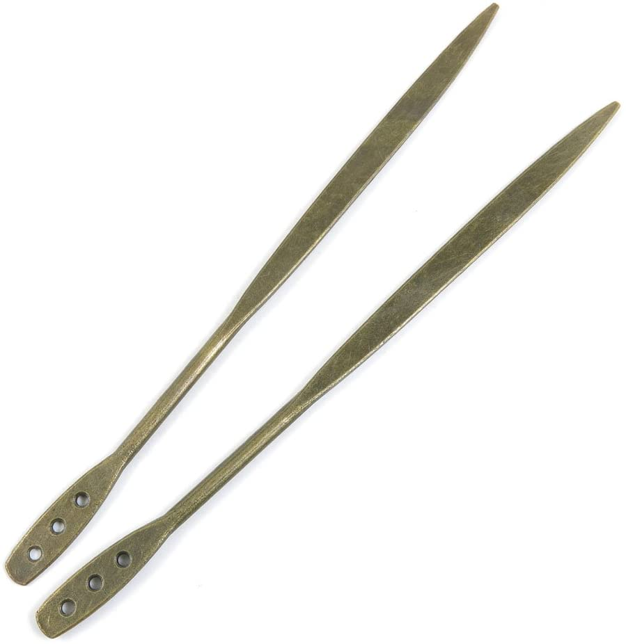 110 Pieces Jewelry Making Charms Findings Beading Craft Antique Bronze 566340 Hairpin Head Pins Stick