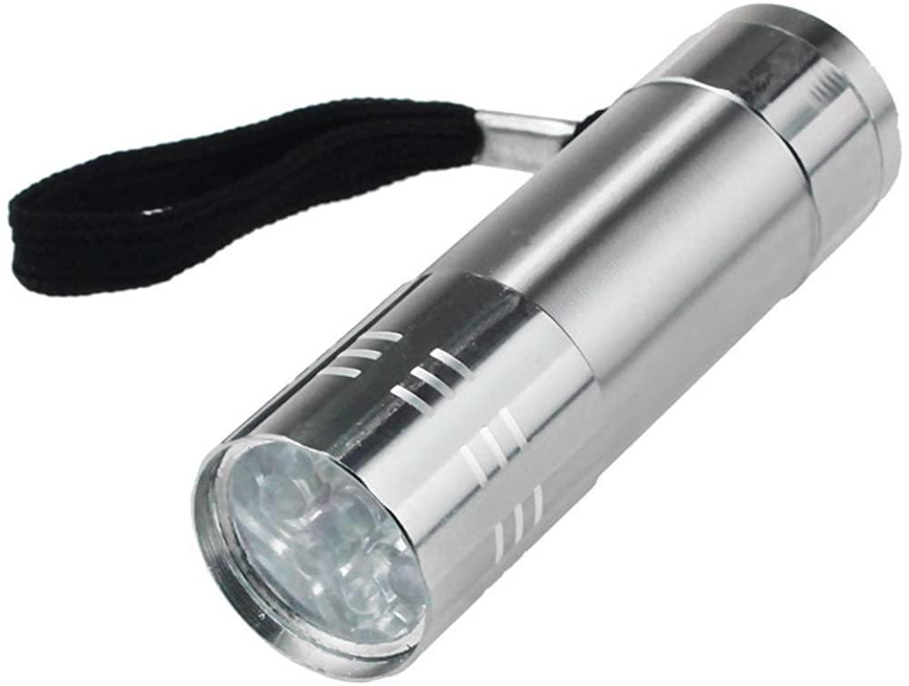 JSPOYOU Nine Small Light LED Waterproof Flashlight Light Lamp SV Silver