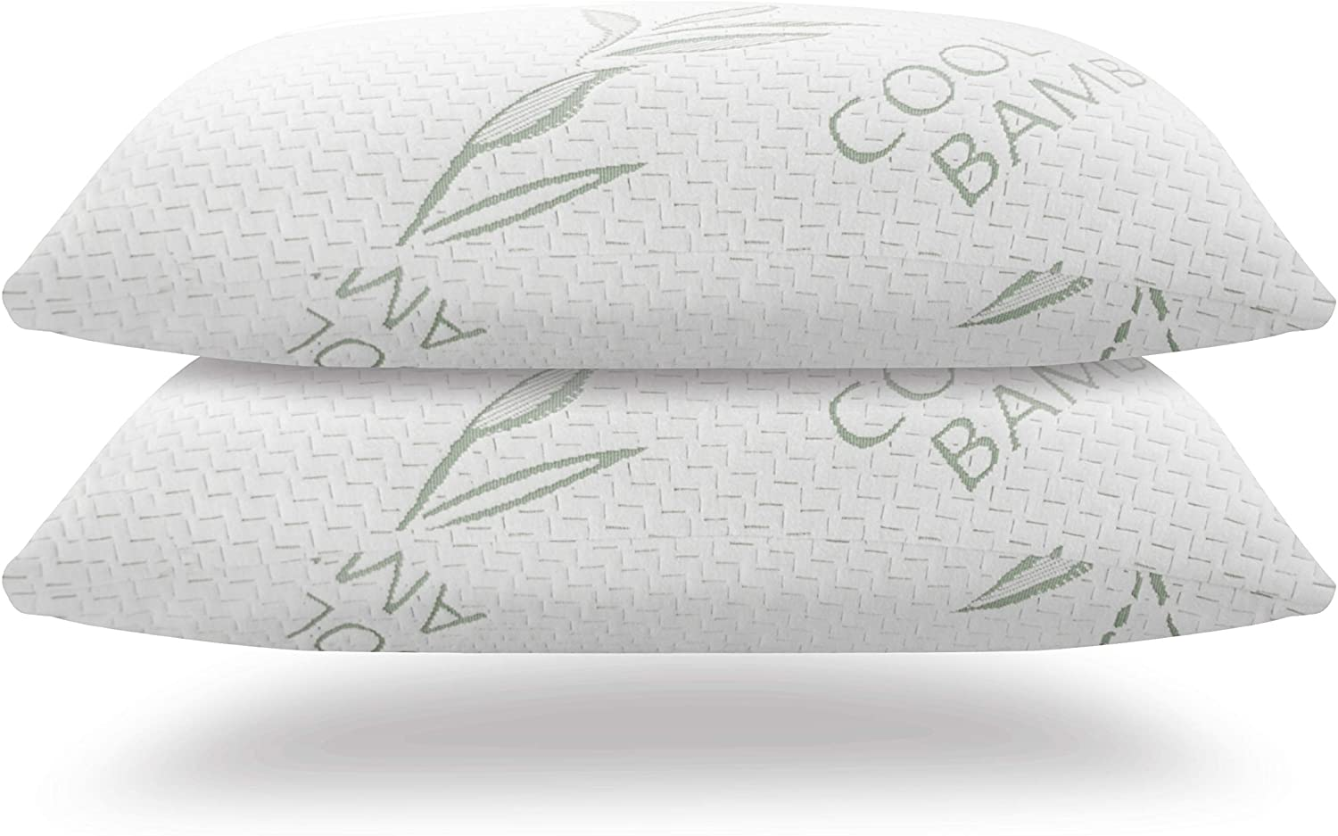 Handua Premium [King Size 2 Pack] Adjustable Loft Bamboo Pillow with Shredded Memory Foam | Back, Stomach, Side Sleeper | Bed Pillows for Sleeping | Hotel Down Alternative King Pillows Set of 2