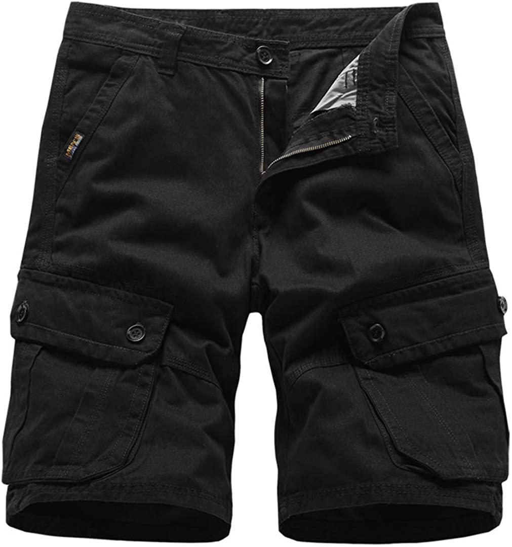 JAJLDSER Mens Cargo Shorts Army Military Tactical Cotton Loose Work Casual Short Pants