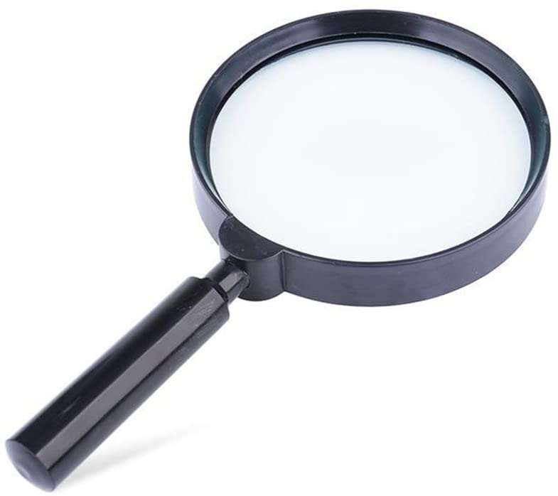 Hyy Handheld Magnifying Glass, Best Jumbo Size 5X Reading Magnifier for Books, Newspapers, Maps, Coins, Jewellery, Hobbies & Crafts