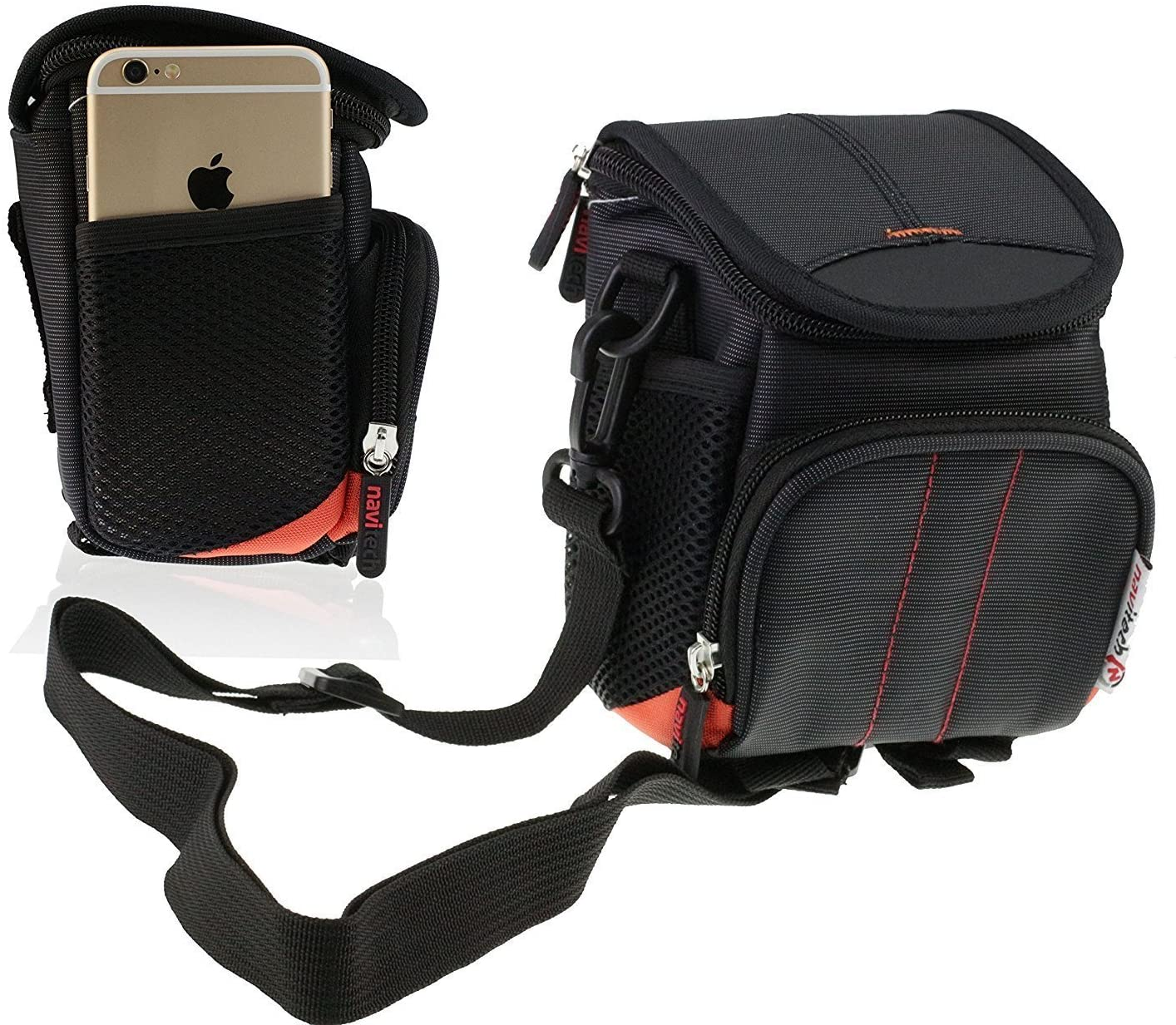 Navitech Black Digital Camera Case Bag Cover Compatible with The Canon Digital Camera Ixus 177 20.5 Mpix