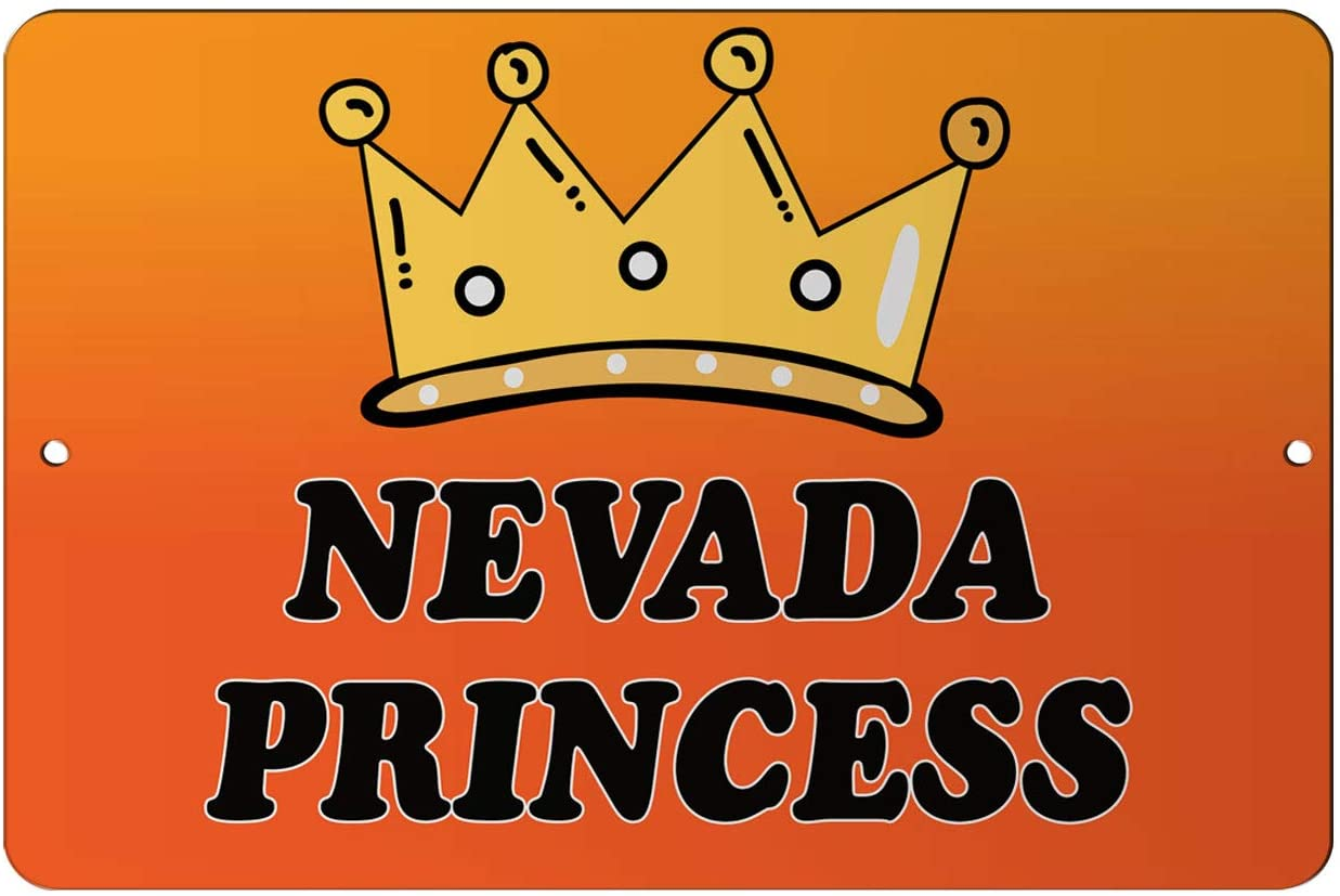 Makoroni - Nevada Princess Girly Princess 12x18 inc Aluminum Decorative Wall Street Sign
