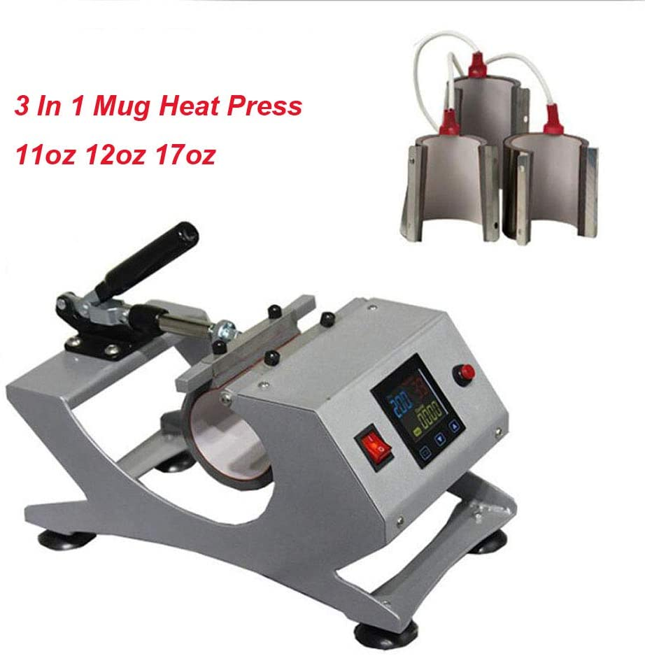 INTBUYING 3in1 Sublimation Mug Heat Press Transfer Machine for 11oz 12oz 17oz Mug Sublimation Transfer Printing Machine for Cups