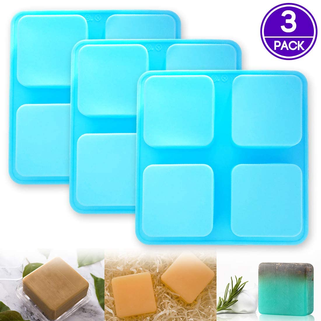 PERNY Silicone Soap Molds for 2.5