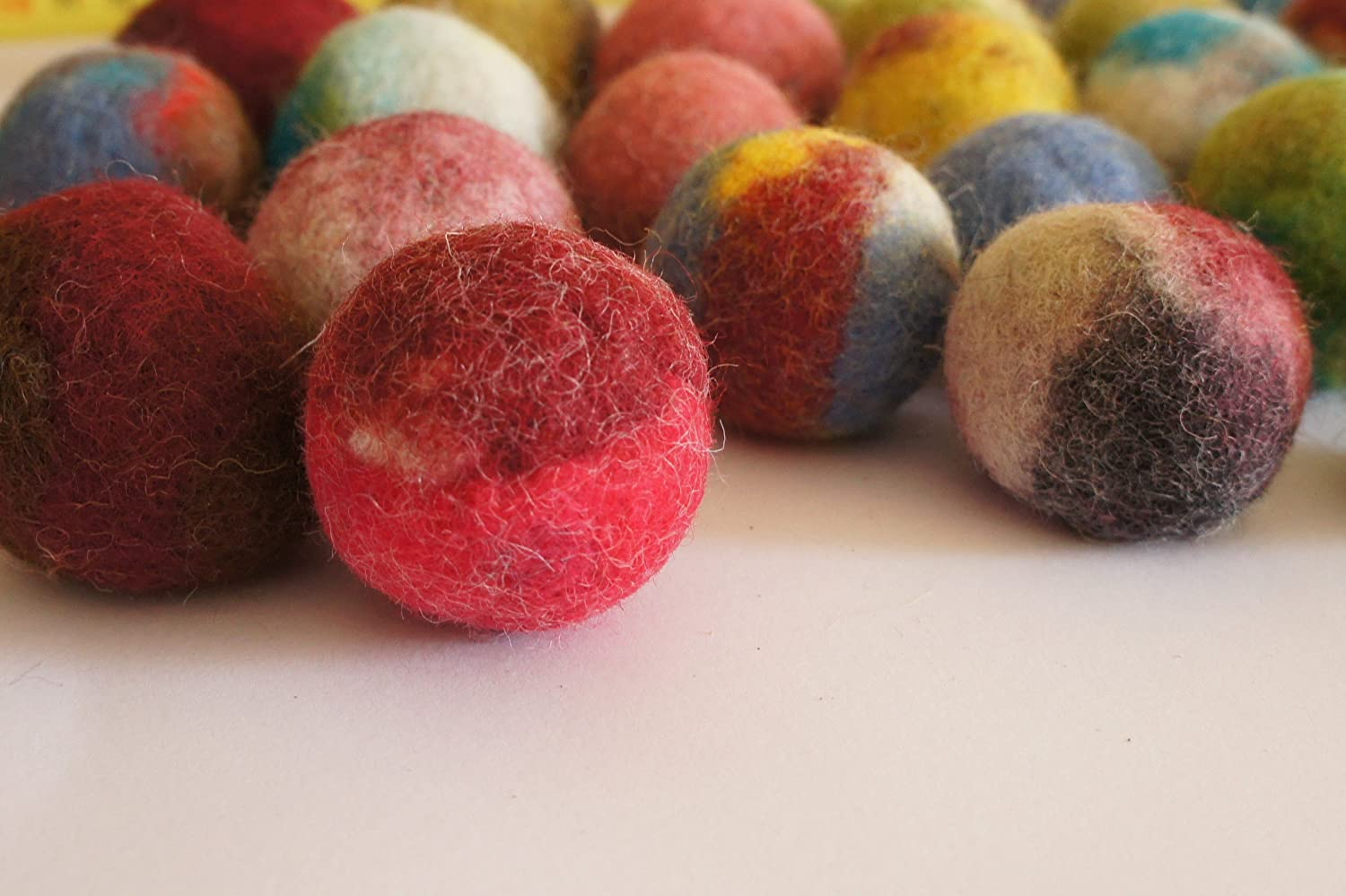 Kivikis Cat Toy, Felted Wool Balls. Handmade from Ecological Wool Made