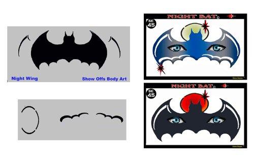 Face Painting Stencil - StencilEyes Night Bat - Batman Mask