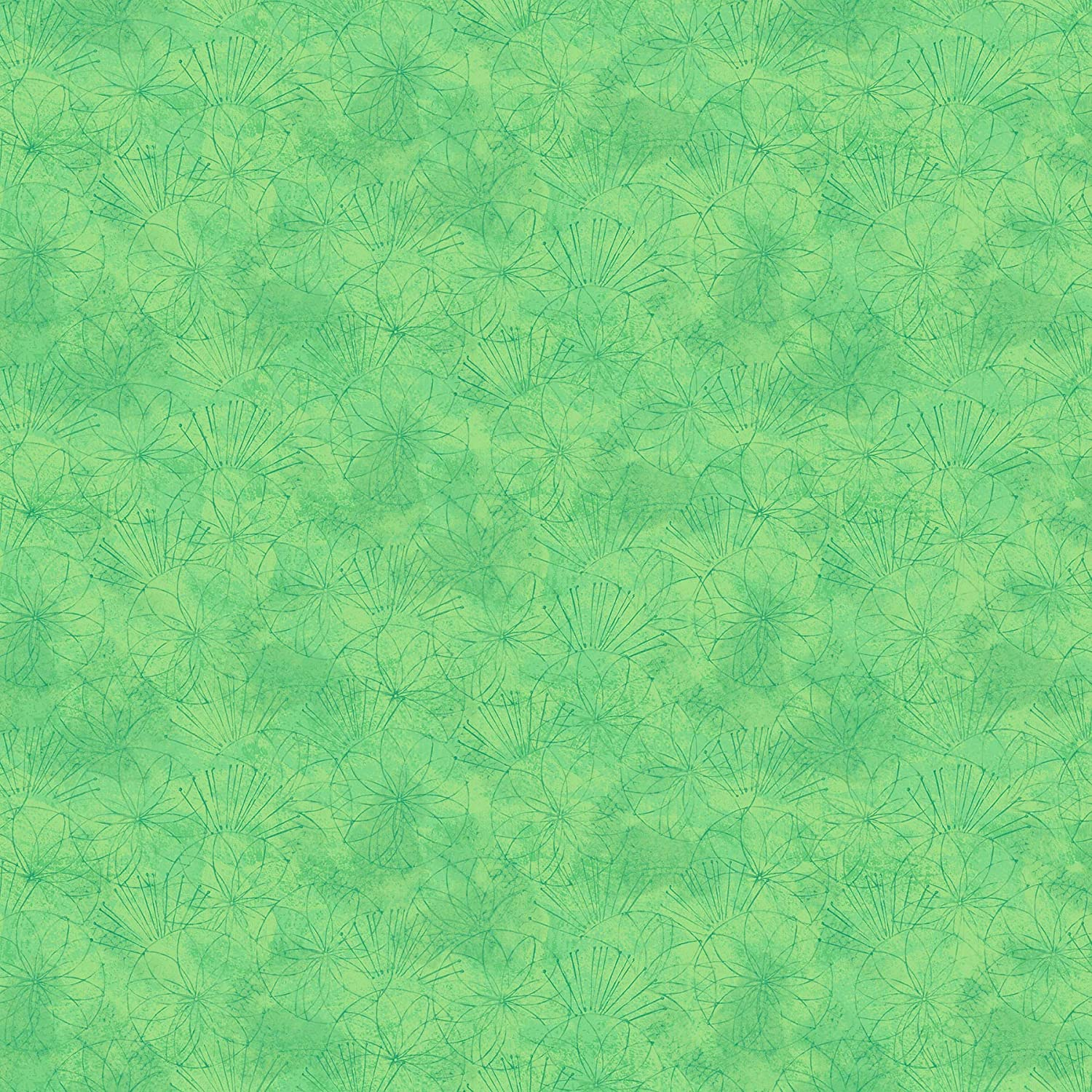 Shimmer Koi Pond by Karen Sikie from Northcott 22351 73 Green Cotton QuiltFabric by The Yard
