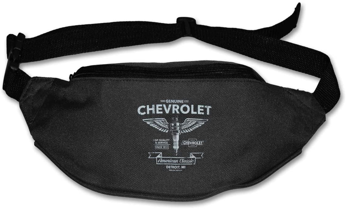 Sunlenvai Chevy Spark Plug Pack Runners Belt Fanny Pack Running Belt Waist Black