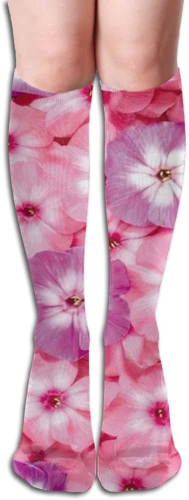 MASDUIH Purple Rose Flower Knee High Crew Socks Knee High Stockings