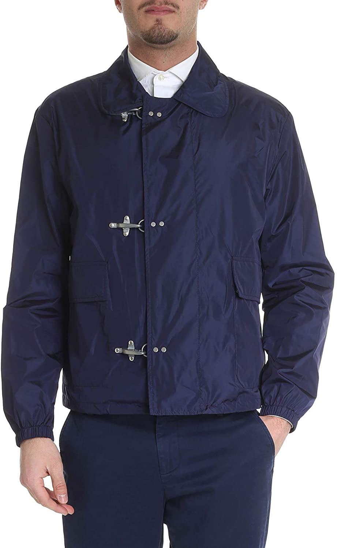 fay Luxury Fashion Man NAM12380290PFWU605 Blue Polyester Outerwear Jacket | Season Outlet