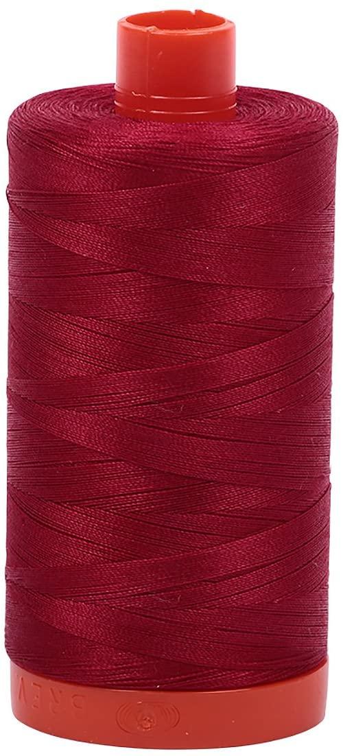 Aurifil Mako Cotton Thread Solid 50wt 1422yds Red Wine