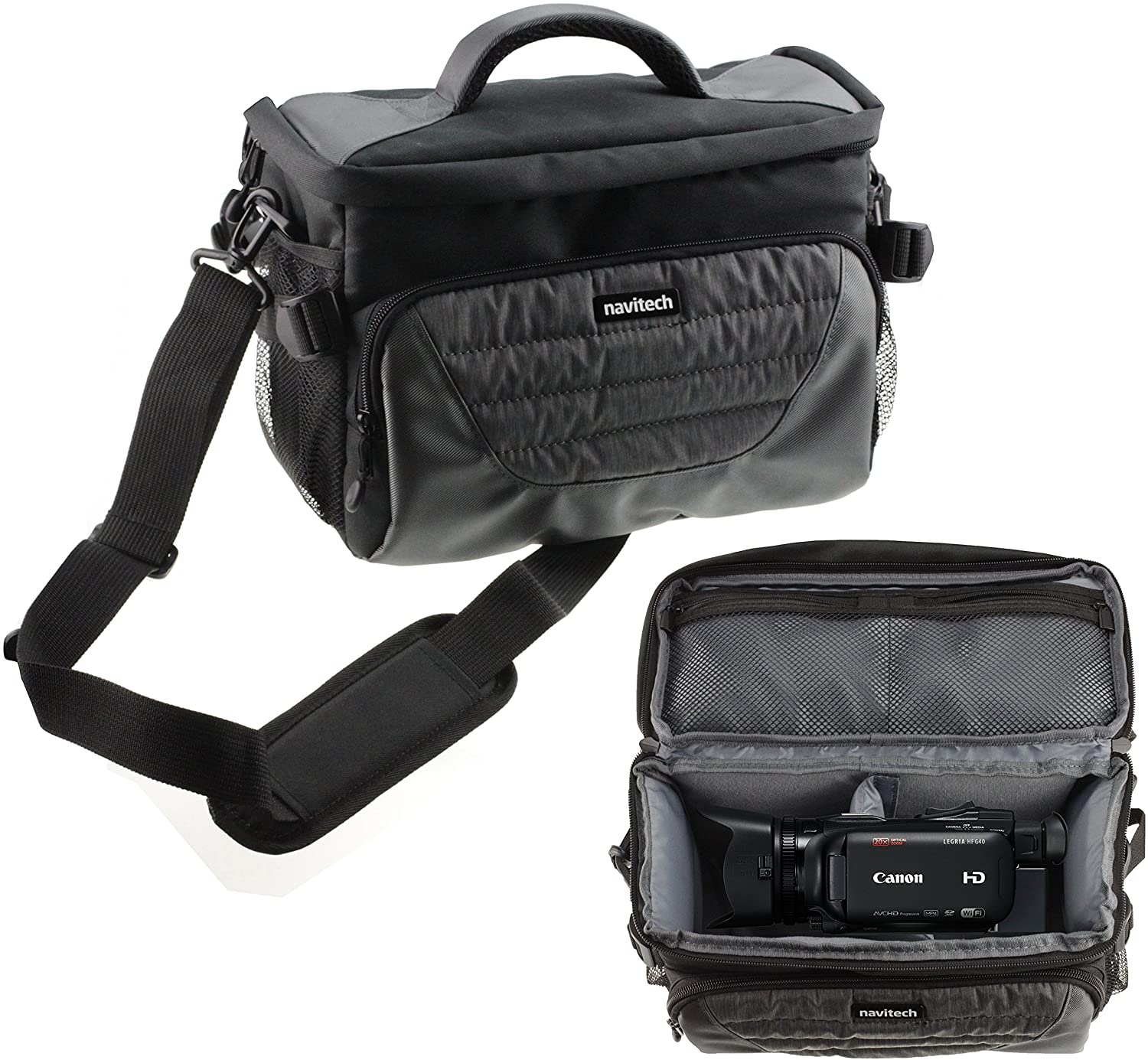 Navitech Grey Camcorder Case Bag Cover Compatible with The JVC GZ-RY980