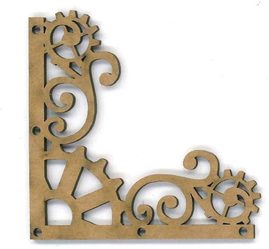 Dayka Trade Decorative Pieces, Chipboard, Multi-Colour, 4.8 x 4.8 cm