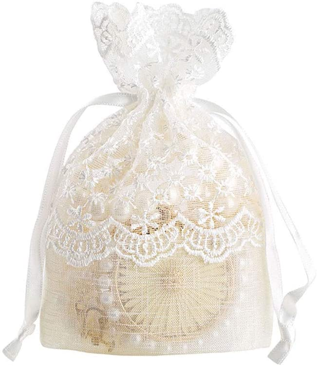 Mihaojianbing Gift Bags - 5 Stars Lace Dress New White Bags, High-end Jewelry Drawstring Bags, Tote Slub Creativity, Christmas Candy Bags Odorless