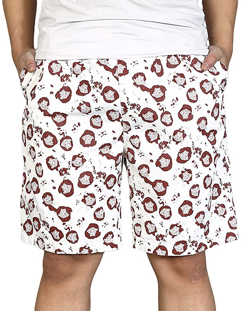Chickle Mens Print Summer Beach Holiday Shorts XL Red White
