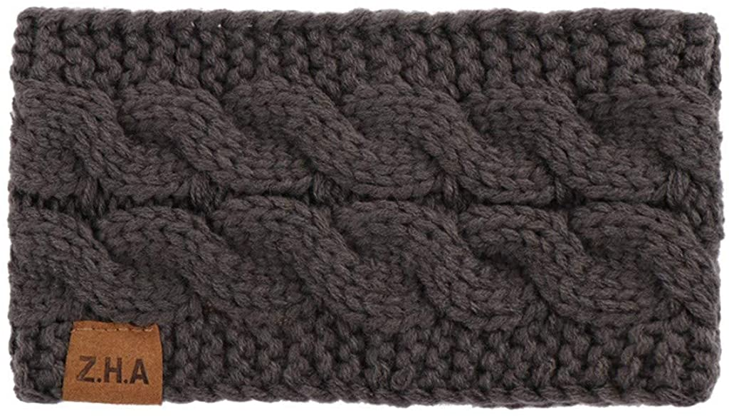 Centory Womens Headbands Warm Knit Crochet Head Wrap Turban Headband Hair Bandana