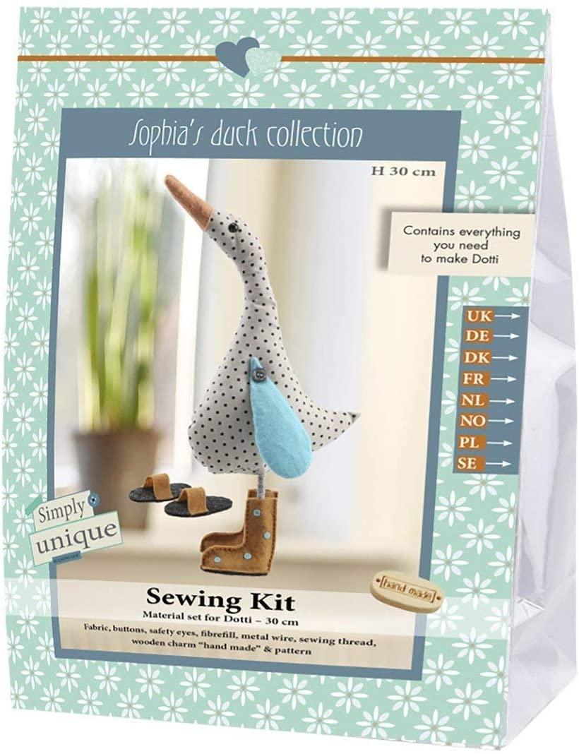 Go Hand Made 80131Duck Dotti 1Sewing Kit Cotton Beige/Blue/Orange, 16x 7x 22cm