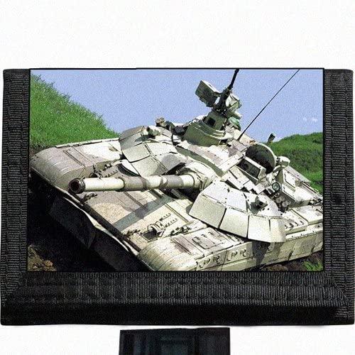 Army Tank Battle Black TriFold Nylon Wallet Great Gift Idea