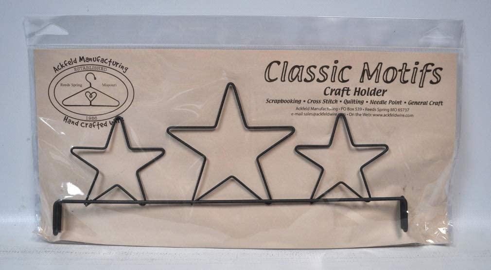 Classic Motifs 12 Inch 3 Star Header Craft Holder