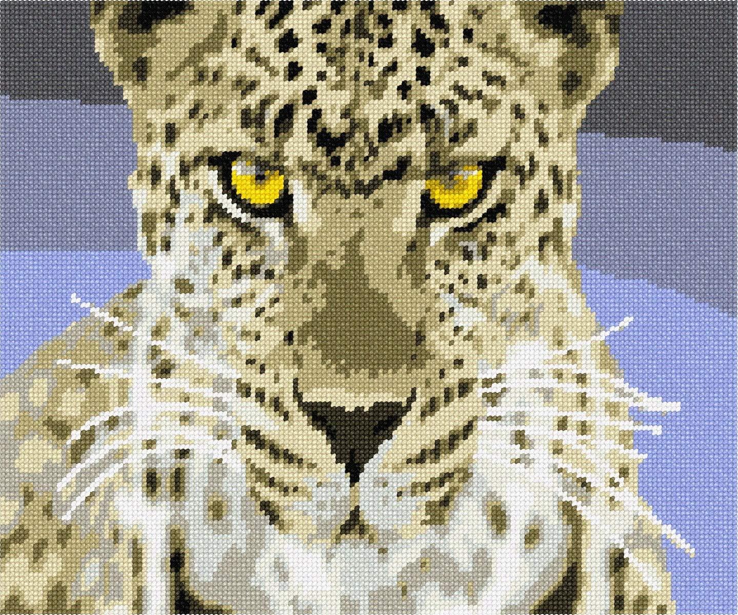 pepita Fierce Leopard Needlepoint Canvas