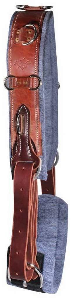 Professionals Choice Surcingle Felt Lined Adjust Leather Brown 800128
