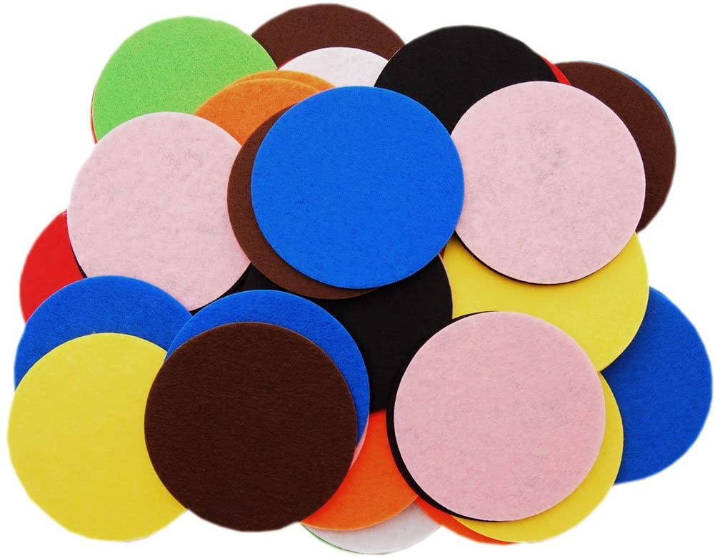 Playfully Ever After 3 Inch Mixed Color Assortment 70pc Stiff Felt Circles