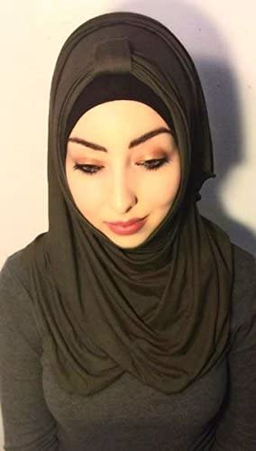 Beautiful Jersey Hijab Scarf with Arch - Colors & Style Abilities all in 1