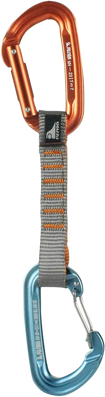 Fusion Climb 11cm Quickdraw with Contigua Blue Wire Gate Carabiner/Contigue Orange Straight Gate Carabiner