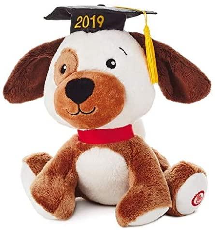 HMK Hallmark 2019 Graduation Pup Interactive Stuffed Animal