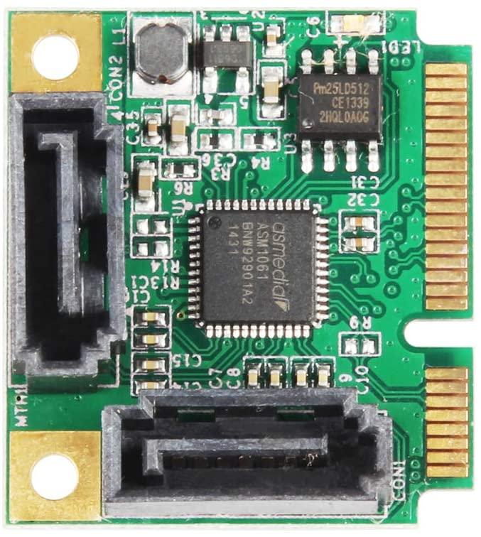 Dual SATA to Mini-PCIE Adapter
