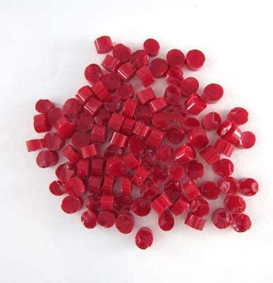 Cherry Red Semi-Opal Dots D1511-96 COE 96 Glacial Art Glass