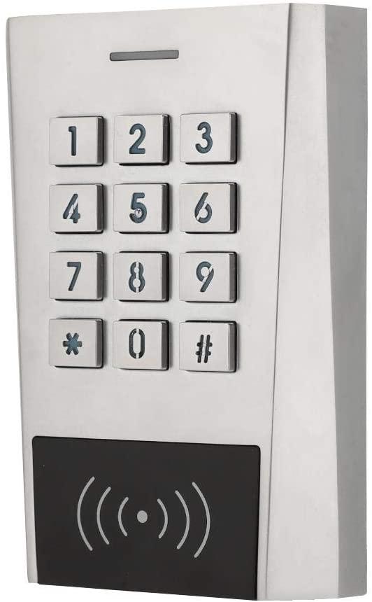 Jacksking Access Control Keypad, Bluetooth Keyboard Door Access Control IP66 Protection ID Card Metal 125khz XK3-BT Code Entry Device Door Reader Outdoor for Indoor