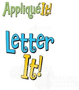 Amazing Designs LETTER IT! & APPLIQUE IT! Embroidery Machine Software Combo & Stabilizer Bundle
