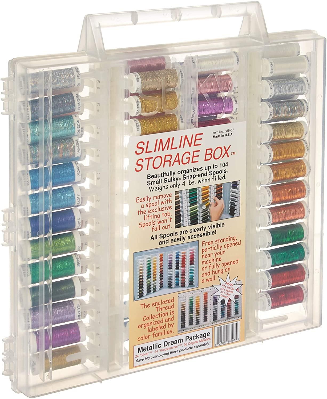 Sulky Metallics Slimline Dream Assortment Storage Box, Metallic