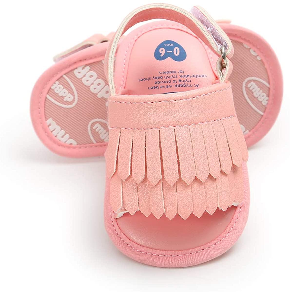 Sabe Unisex Infant Baby Summer Sandals Soft Sole Tassels Prewalker Anti-Slip Shoes