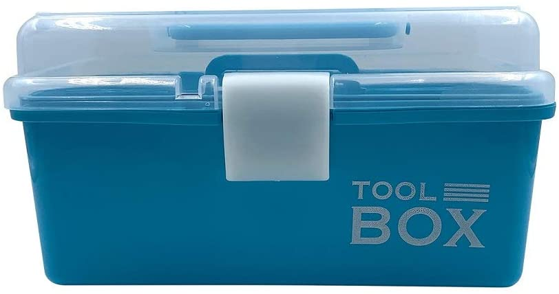 Tool Box Clear Plastic Organizer Box,Multiple Compartment and Application,Bead Letter Board Brand Fishing Tackle Storage Container Etc (213-5C-Blue)