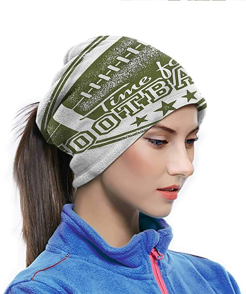Head Wrap Boys Room, Time for Football Quote Outdoor Face cover for Summer Outdoor Activity 10 x 11.6 Inch