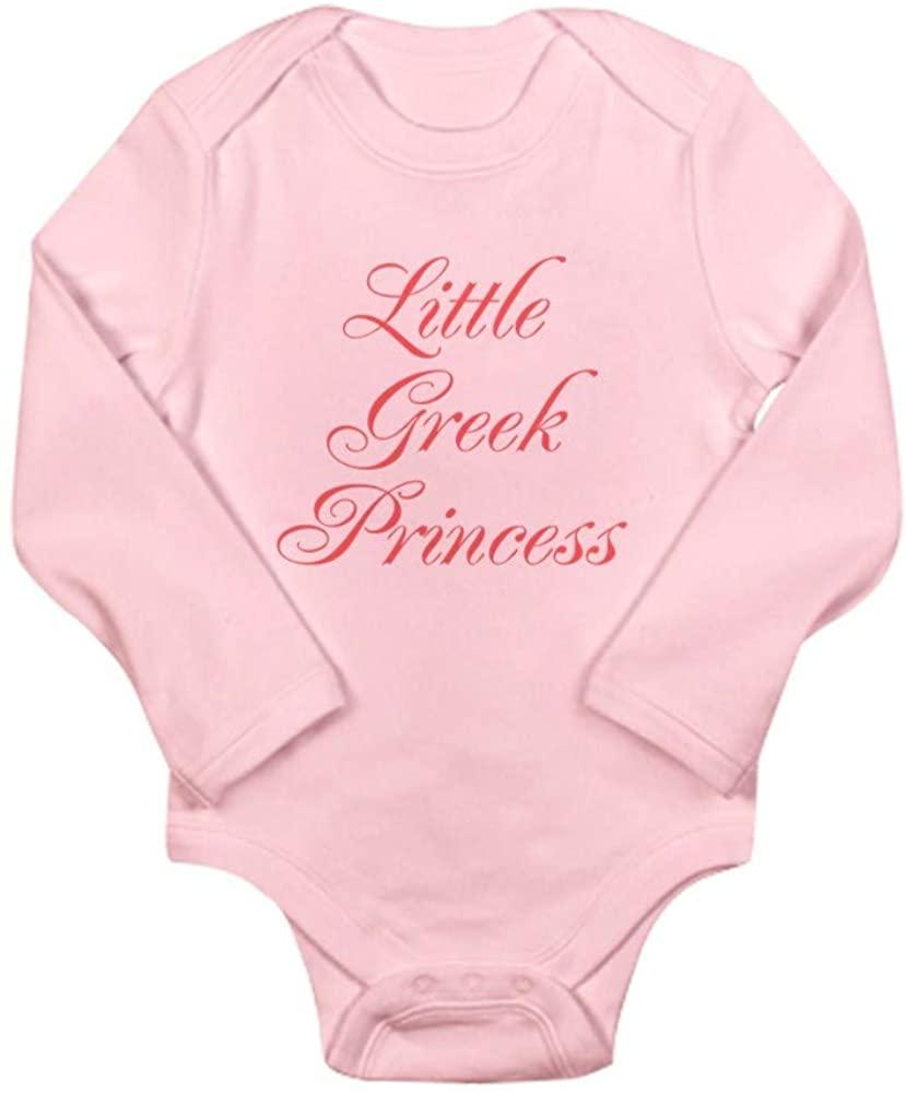 CafePress Little Greek Princess Long Sleeve Baby Bodysuit