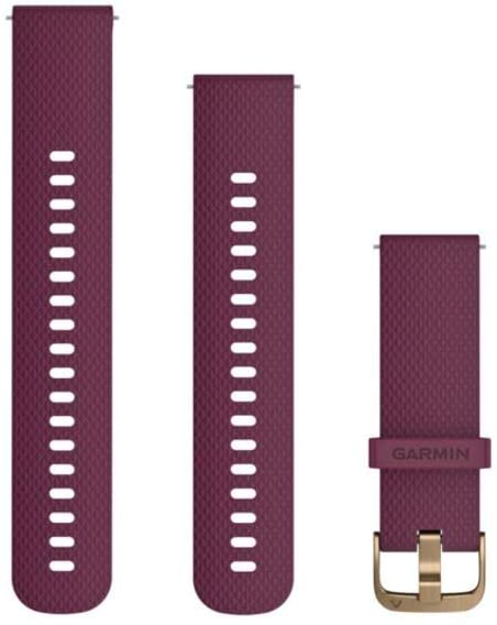 Garmin Quick Release Accessory Band 20 mm- White/Rose Gold, Two Sizes Included