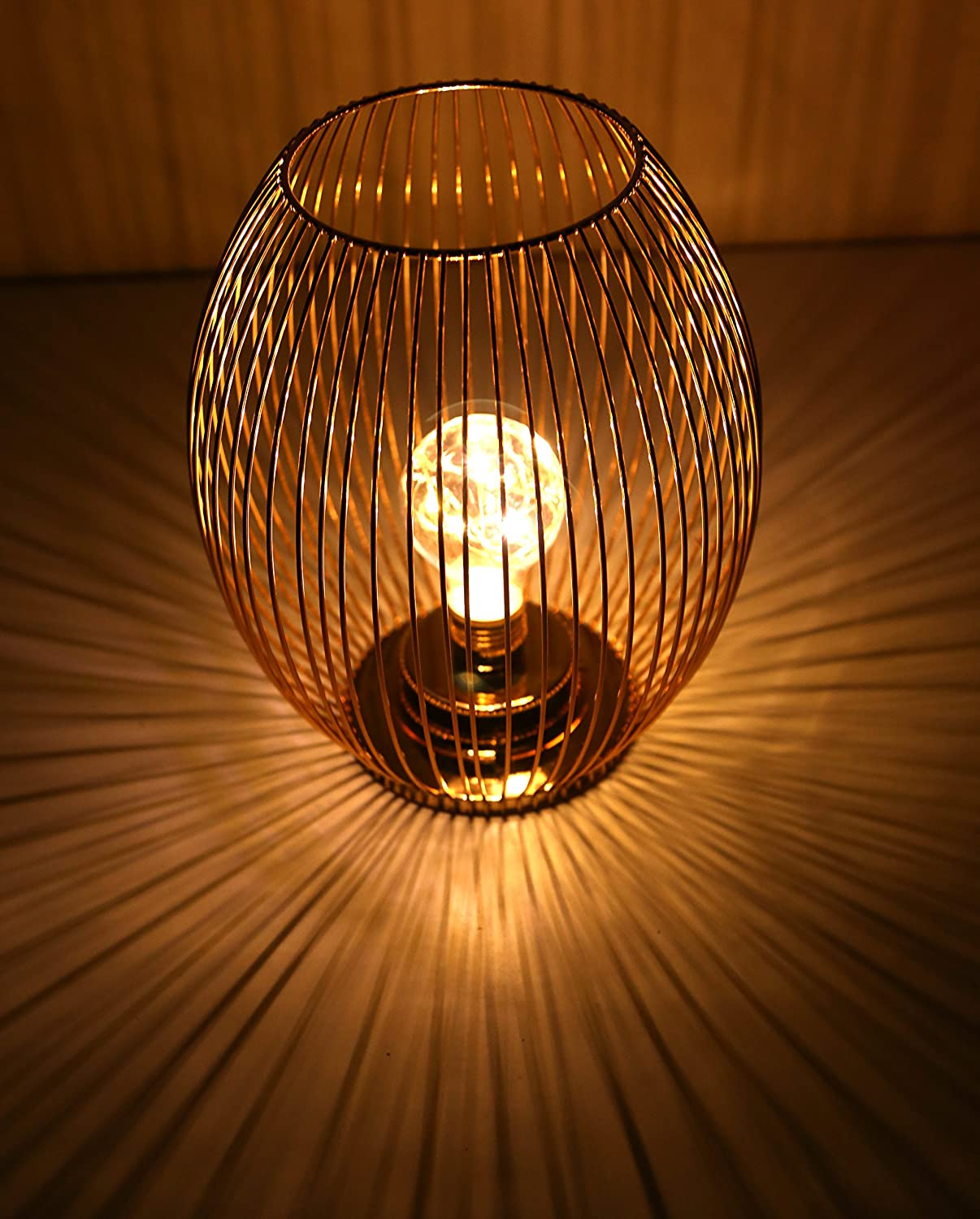 Auslese Wire Mesh Electronics Lantern Sphere Metal Lamp Mood Light Garden Size: (H:23,W:19) cm