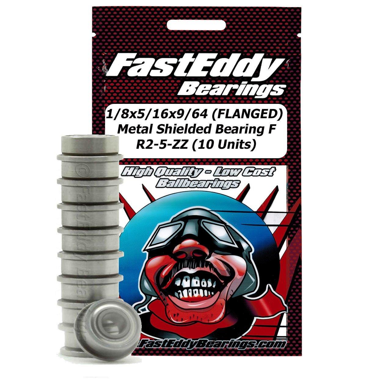 1/8x5/16x9/64 (FLANGED) Metal Shielded Bearing FR2-5-ZZ (10 Units)