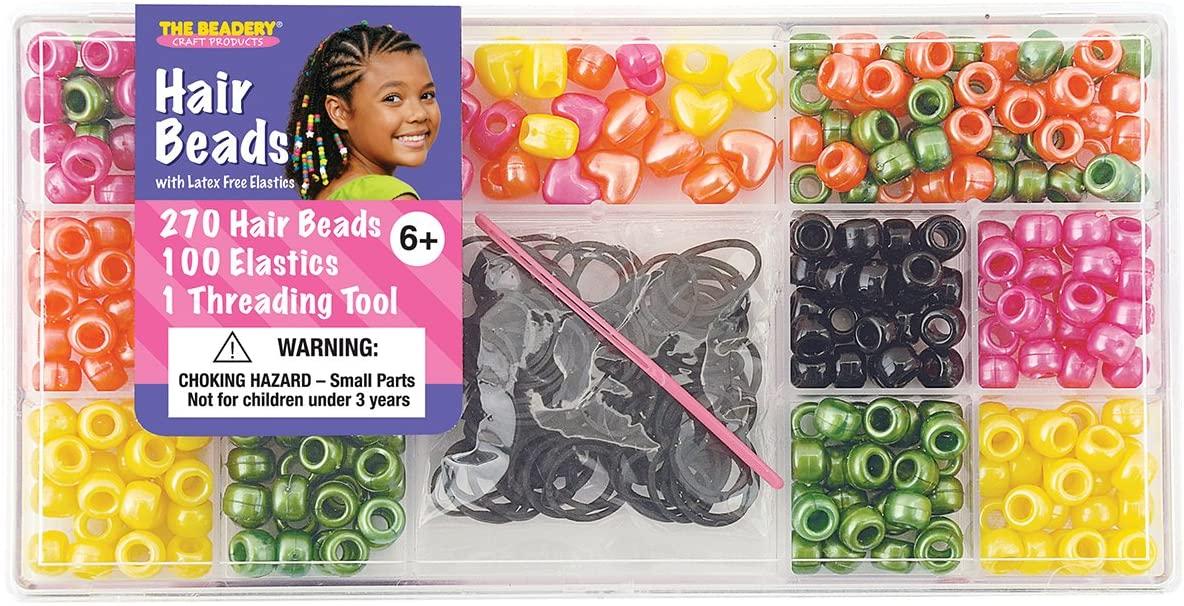 The Beadery 6550 Hair Beads Box, Pearl