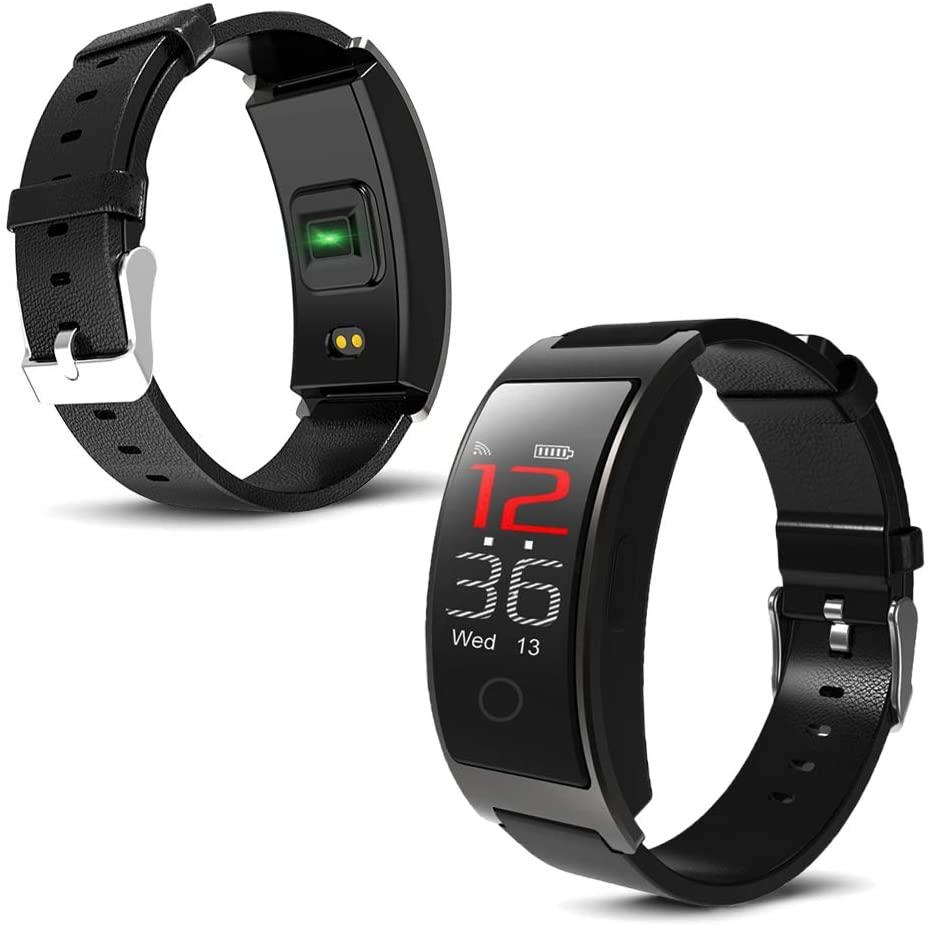 indigi CX Fitness Tracker & SmartWatch Heart Rate/Blood Pressure/Blood Oxygen - Pedometer (IP67 Waterproof)
