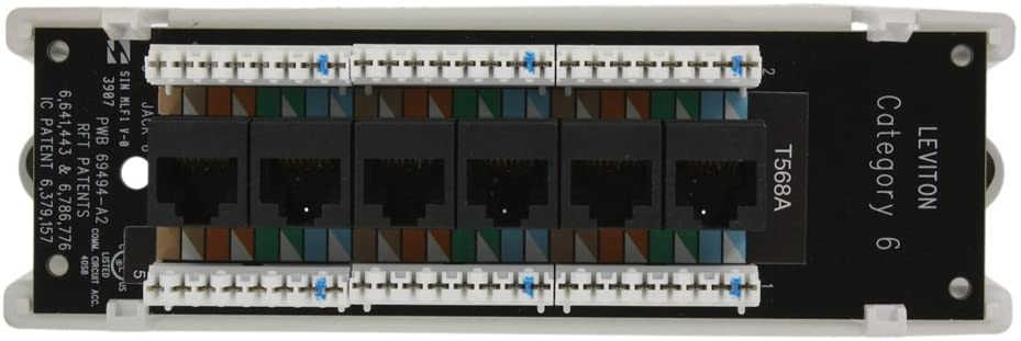 Leviton 47611-C6B Category 6 Voice and Data Module