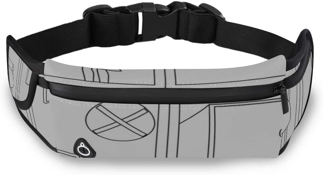 Cupboard Simple Style Cartoon Fanny Pack Kit Mens Bag Travel Waist Bags For Women Fashion With Adjustable Strap For Workout Traveling Running