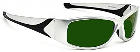 Lightweight Polycarbonate Torching Welding Safety Glasses in Silver Extreme Safety Frame