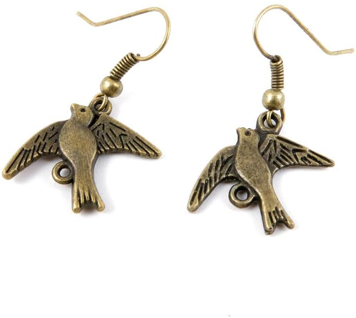 60 Pairs Jewelry Making Charms Supply Supplies Wholesale Fashion Earring Backs Findings Ear Hooks H9XY2 Bird Swallow